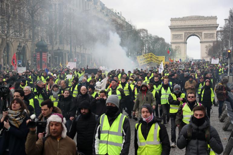 """Les """"gilets jaunes"""" étaient à nouveau mobilisés samedi 9 février 2019"""