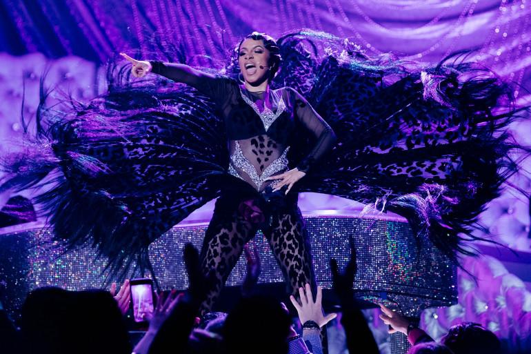 Cardi B lors de la 61ème cérémonie des Grammy Awards, à Los Angeles le 10 février 2019