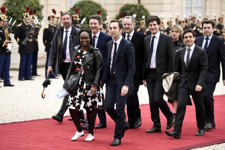 """Le """"clan Macron"""" à l'Élysée le 14 mai 2017"""