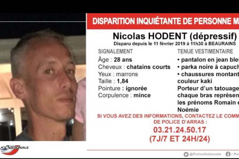 Appel à témoins pour Nicolas Hodent
