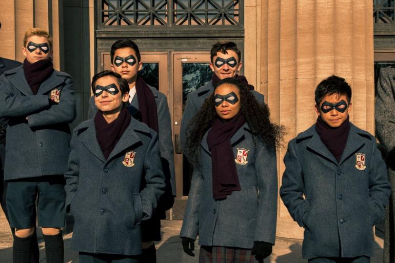 """Les héros de """"Umbrella Academy"""" enfants"""