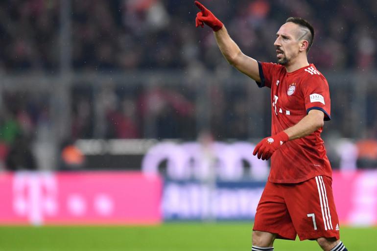 Franck Ribéry avec le Bayern Munich le 19 décembre 2018