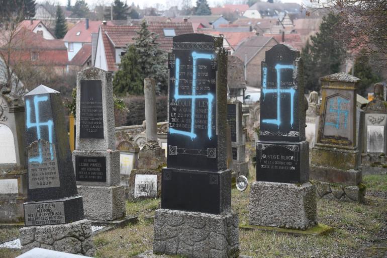 Le cimetière juif de Quatzenheim (Bas-Rhin), le 19 février 2019