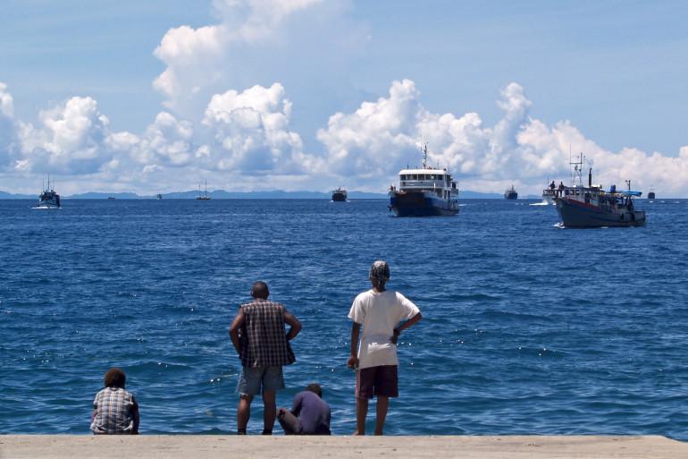 Le port d'Honiara, capitale des îles Salomon (illustration)