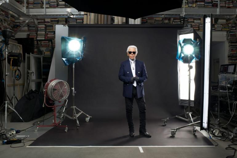Karl Lagerfeld chez lui en 2013