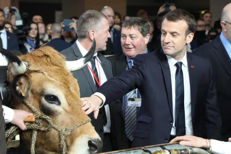 Emmanuel Macron au Salon de l'agriculture le 24 février 2018