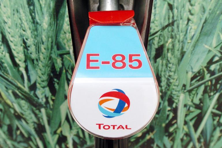 Le carburant E85 dans une station service Total