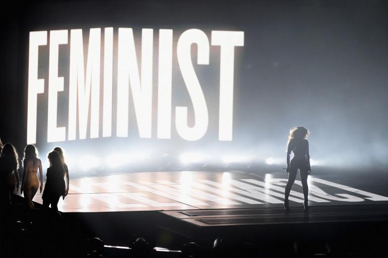 Beyoncé lors de sa performance aux MTV Video Music Awards, le 24 août 2014 à Inglewood, aux États-Unis