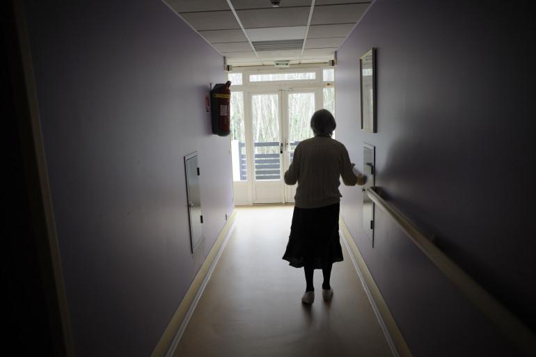 Une retraitée dans un EPHAD (illustration)