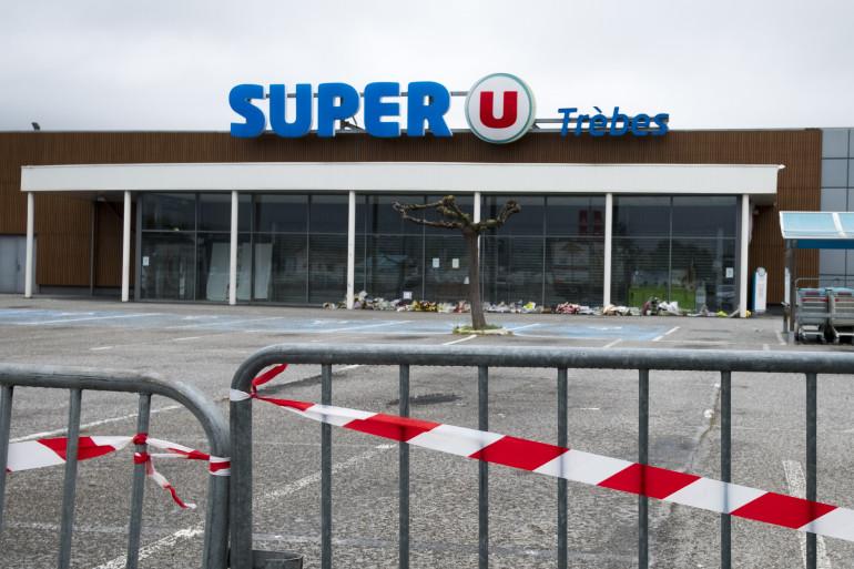 Le Super U de Trèbes, attaqué par un terroriste le 23 mars 2018, faisant 4 morts.