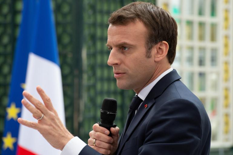 Emmanuel Macron à Bordeaux, le 1er mars 2019