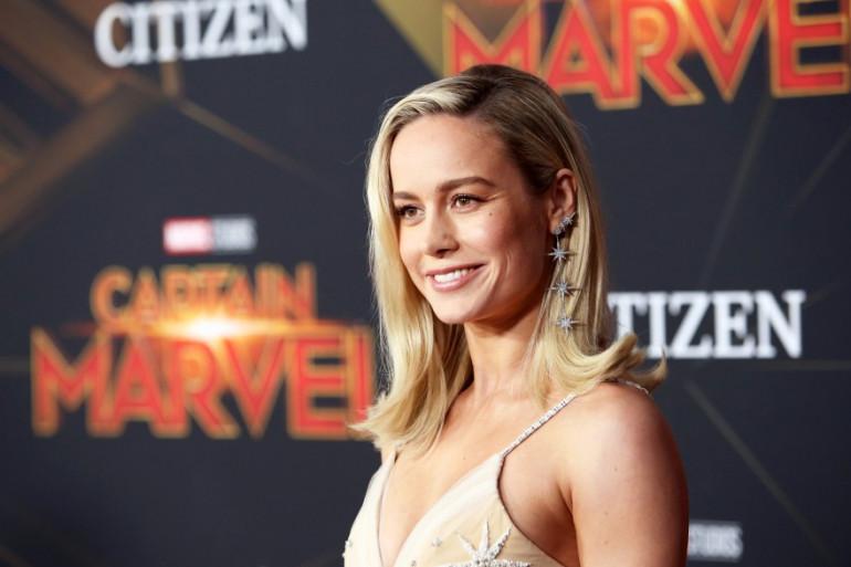 """Brie Larson à l'avant-première de """"Captain Marvel"""", le 4 mars 2019"""