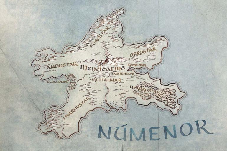L'île de Númenor inventée par J.R.R. Tolkien