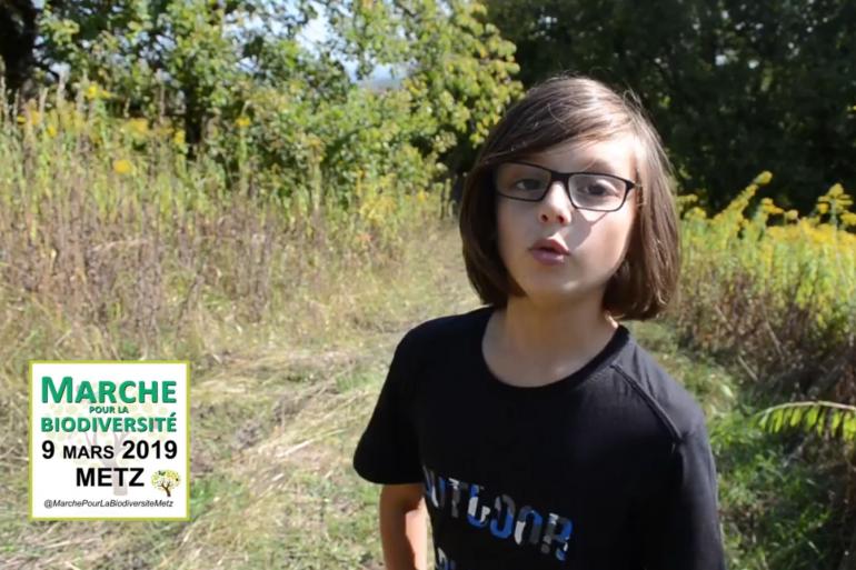 Victor, 14 ans, organisateur d'une marche pour la biodiversité à Metz