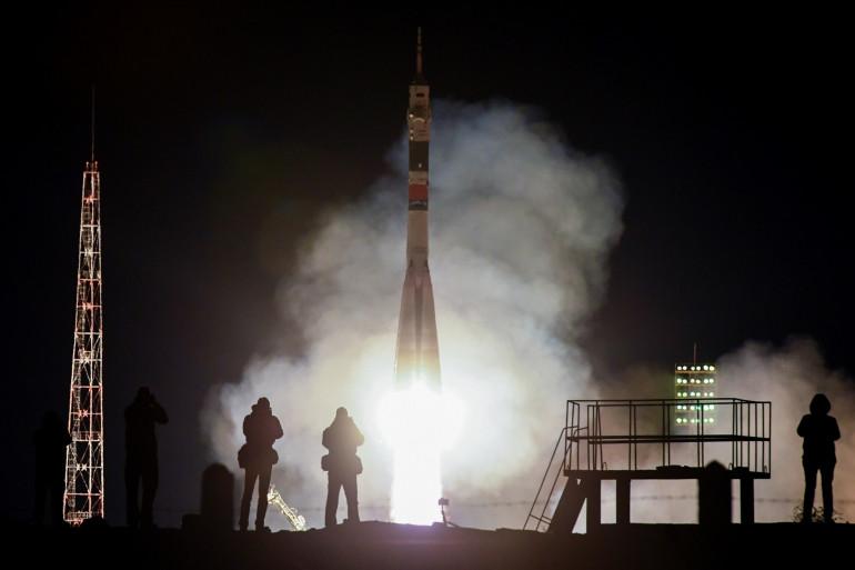 Une fusée Soyuz MS-12 a décollé vers l'ISS le 14 mars 2019