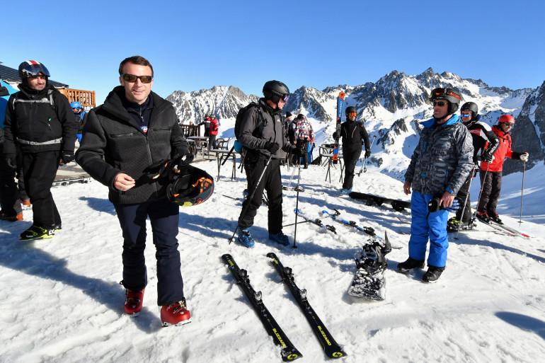 Emmanuel Macron a pris quelques jours de repos à La Mongie (Hautes-Pyrénées).