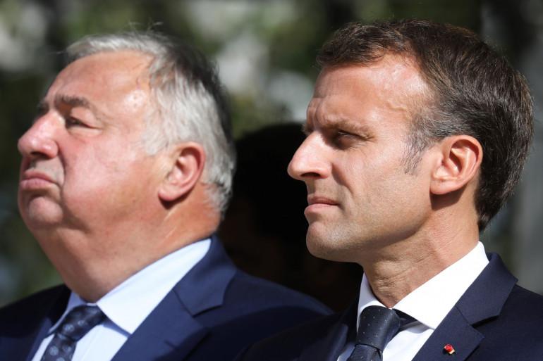 Gérard Larcher et Emmanuel Macron, à Paris le 19 septembre 2018