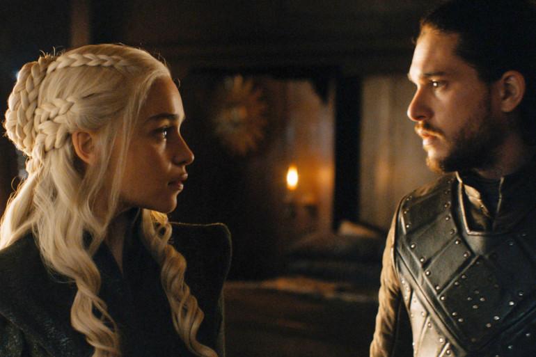"""Daenerys et Jon dans le final de la saison 7 de """"Game of Thrones"""""""