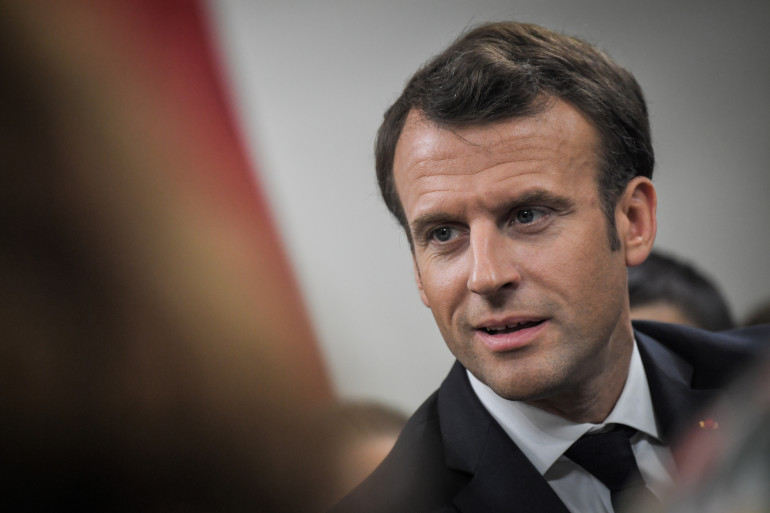 Emmanuel Macron, à Beaupreau-en-Mauges le 28 mars 2019