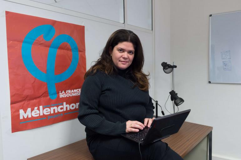 Raquel Garrido, porte-parole de la France insoumise