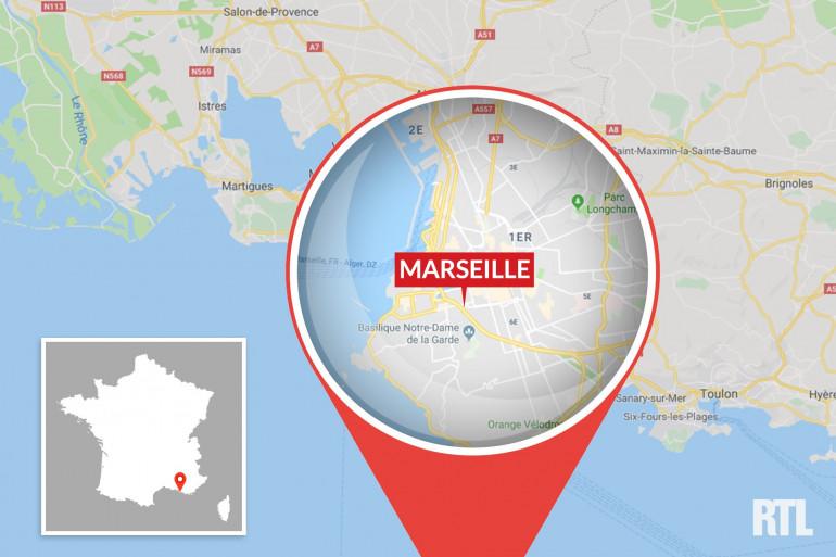 La ville de Marseille dans les Bouches-du-Rhône