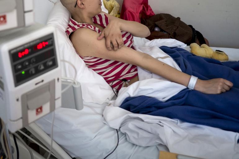 Un enfant souffrant d'un cancer (illustration)
