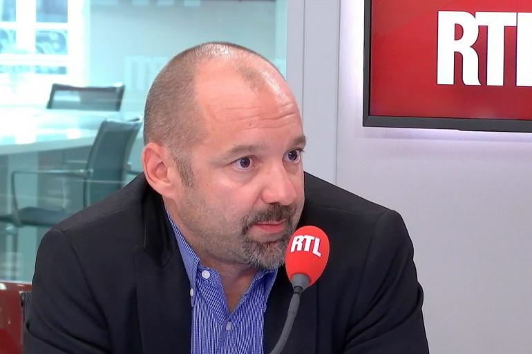 Vincent Crase sur RTL en avril 2019