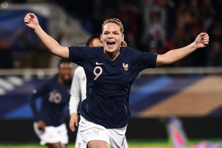 Équipe de France : Eugénie Le Sommer , ici à Auxerre lors d'un match face au Japon