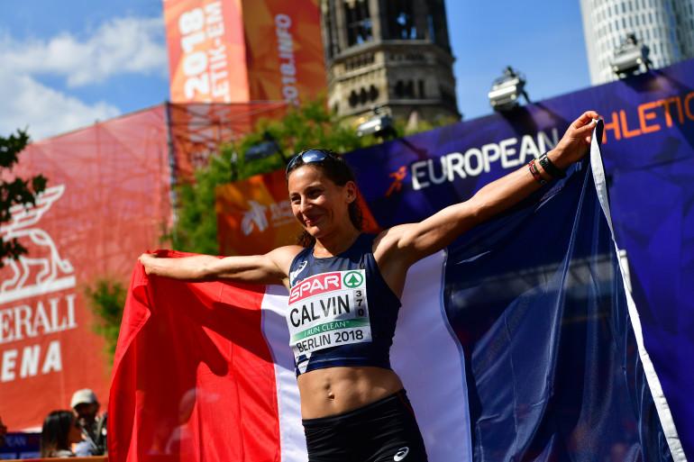 Clémence Calvin lors des championnats d'europe en 2018