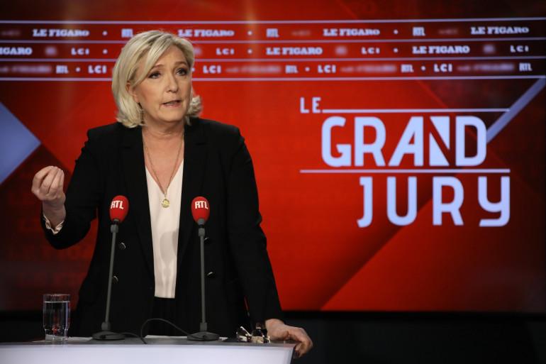 Marine Le Pen au Grand Jury RTL, Le Figaro, LCI le 14 avril 2019