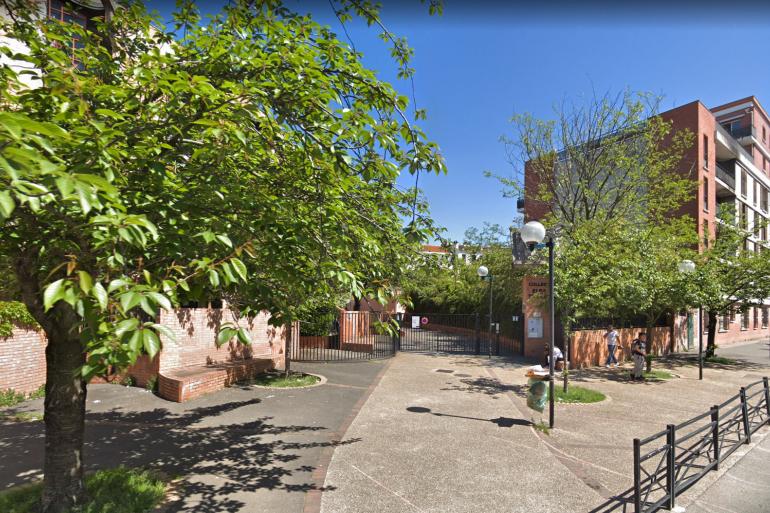 L'entrée du collège Elsa Triolet à Saint-Denis