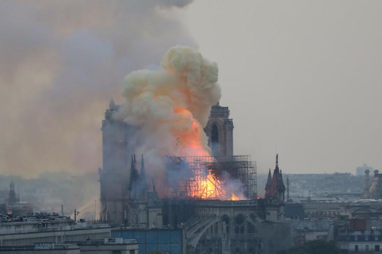 La cathédrale Notre-Dame de Paris, victime d'un incendie le 15 avril 2019