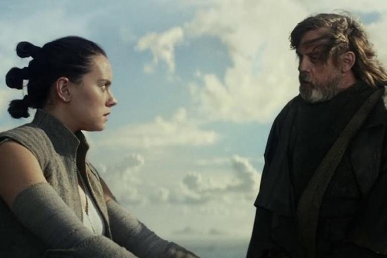 """Rey et Luke Skywalker dans """"Star Wars 8"""""""