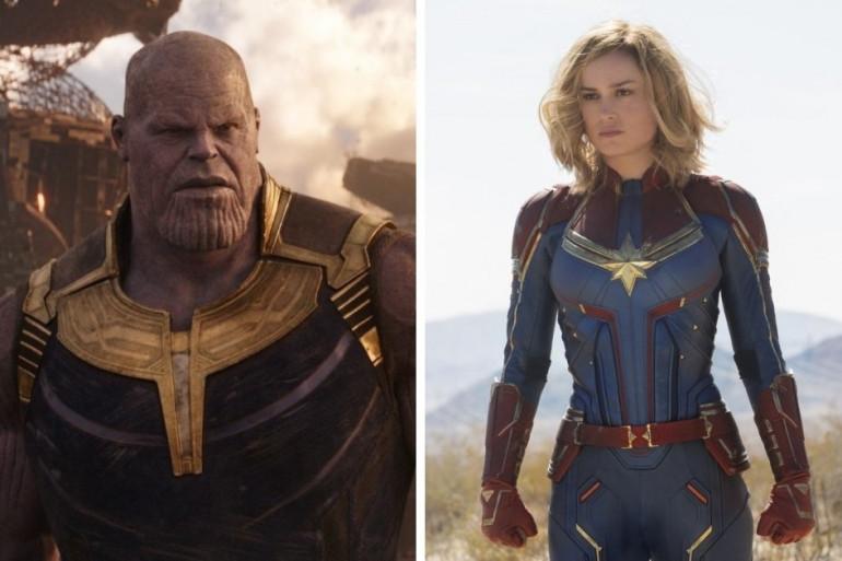 """Thanos et Captain Marvel s'affronteront dans """"Avengers : Endgame"""""""
