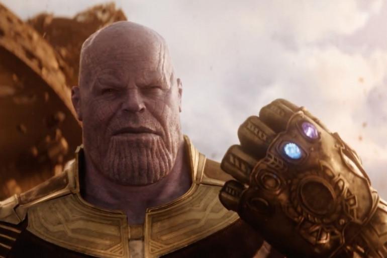 """Thanos et le Gant de l'Infini dans """"Avengers : Infinity War"""""""