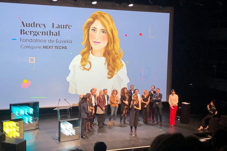 Le Prix Business With Attitude a été attribué à Audrey-Laure Bergenthal, fondatrice d'Euveka, le 18 avril 2019