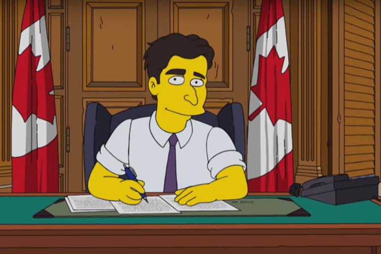 """Justin Trudeau représenté dans un épisode des """"Simpson"""""""