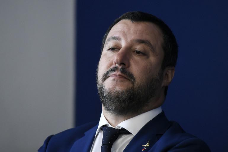 La vice-Premier ministre italien Matteo Salvini à Rome le 8 octobre 2018