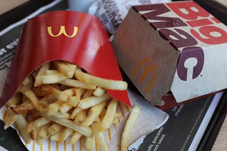 Un menu McDonald's