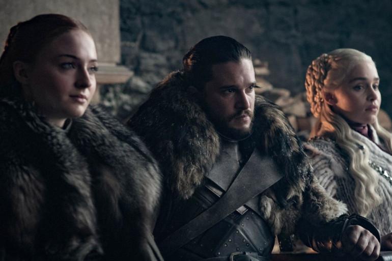 """Sansa, Jon et Daenerys dans un épisode de la saison 8 de """"Game of Thrones"""""""