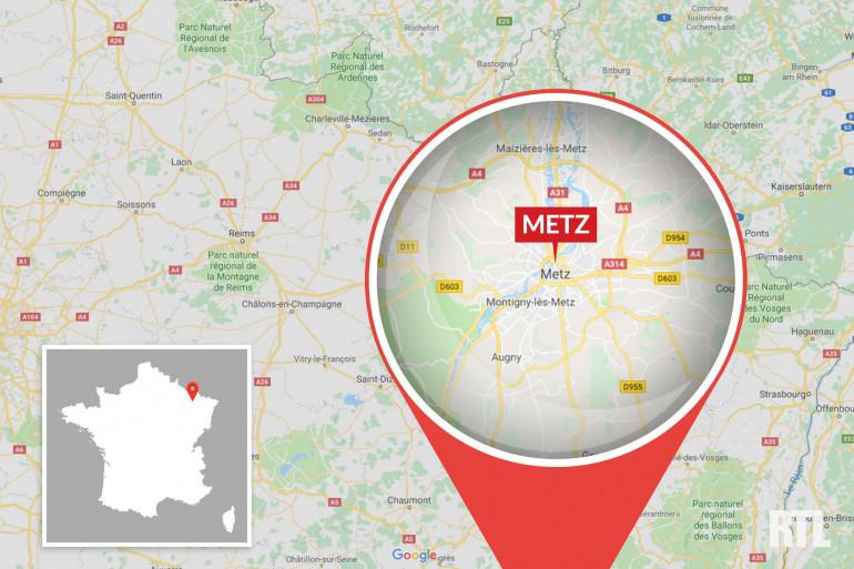 La ville de Metz (Moselle)