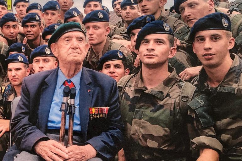 Léon Gautier avec les Fusillers Marins en 2014