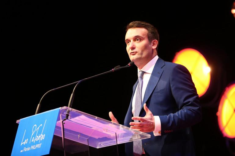 Florian Philippot, lors d'un discours à Arras, le 18 février 2018