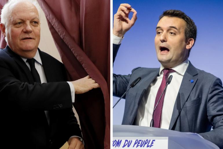 François Asselineau et Florian Philippot se sont invectivés mardi 7 mai en marge d'un débat