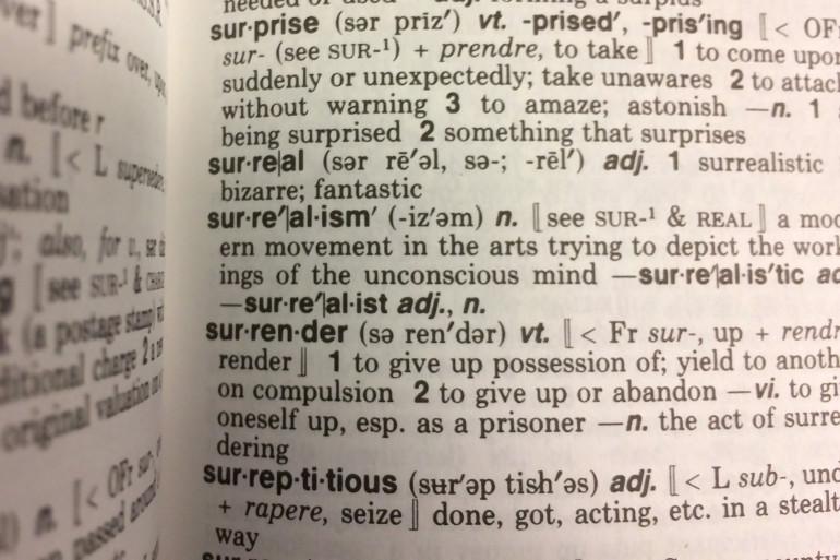 Les pages d'un dictionnaire (illustration)