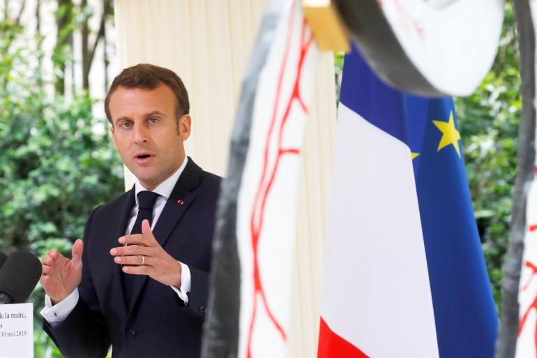 Emmanuel Macron au jardin du Luxembourg, à Paris, le 10 mai 2019