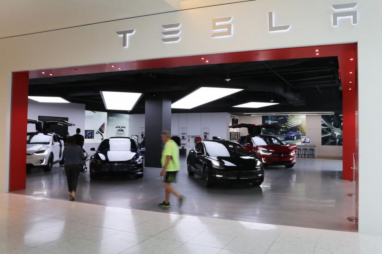 Un magasin Tesla à Miami, en Floride
