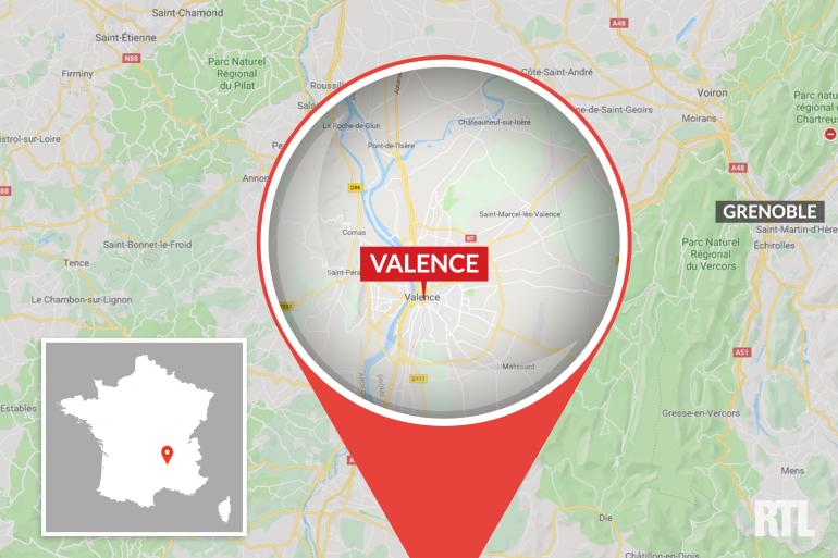 La ville de Valence, dans la Drôme
