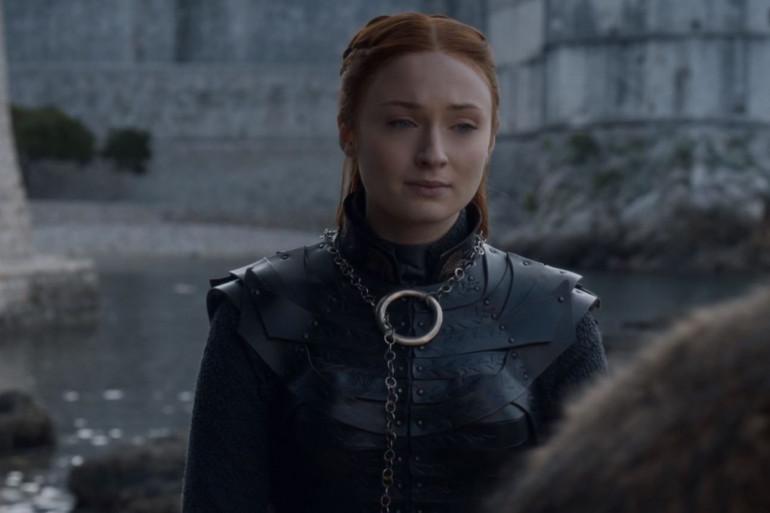 """Sansa Stark dans l'épisode """"The Iron Throne"""" de la saison 8"""