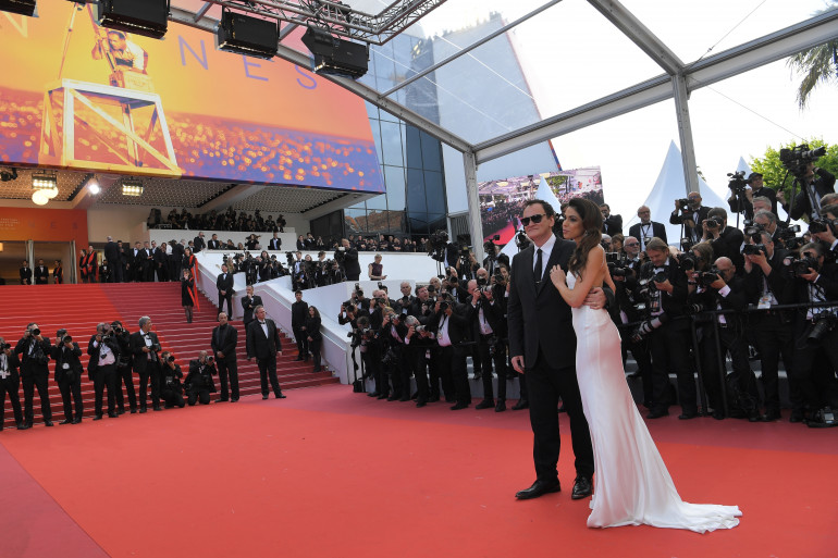 """Quentin Tarantino (avec sa femme Daniella Pick) en compétition à Cannes avec """"Once Upon A Time... In Hollywood"""""""